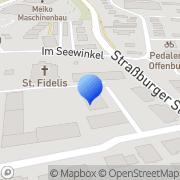 Karte Kath. Pfarramt St. Fidelis Offenburg, Deutschland