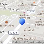 Karte Burger King Cloppenburger Straße Oldenburg, Deutschland