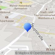 Karte Kaufmann-Grünzinger Weinheim, Deutschland