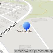 Kort Samrådet af Grundejerforeninger ved Fanø Strand Gredstedbro, Danmark