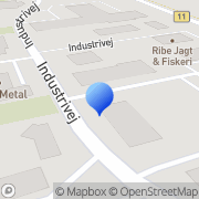 Kort Mølby Pejsecenter Ribe, Danmark
