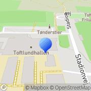Kort Toftlund Hallerne Toftlund, Danmark