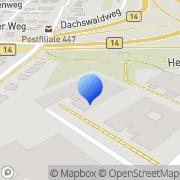 Karte Leadec Management Central Europe BV & Co. KG Stuttgart, Deutschland