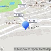 Karte Hotel Zum Schiffchen Wolfhagen, Deutschland
