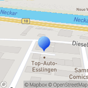 Karte Krumm-Deyle, SabineSteuerberaterin Esslingen am Neckar, Deutschland