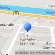 Karte Carl Zeiss Industrielle Meßtechnik Esslingen am Neckar, Deutschland