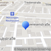 Karte Werz Frank Sanitär Metzingen, Deutschland