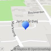 Kort Lars E. Huber Jerlev El ApS Vejle, Danmark