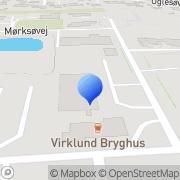 Kort Virklund Vognmandsforretning Silkeborg, Danmark