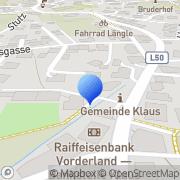 Karte PG - Installationen GmbH Solar-Wasser-Heizung-Gas Klaus, Österreich