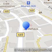 Karte Ärztehaus Biberach Verwaltungsgesellschaft Biberach, Deutschland