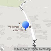 Kort Vollerup-Ulkebøl Vandværk Sønderborg, Danmark