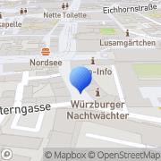 Karte Praxis für Logopädie Martin Böhmer Würzburg, Deutschland