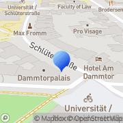 Karte Hot Spot Coffee Hamburg, Deutschland