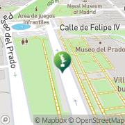 Map museo del prado Madrid, Spain