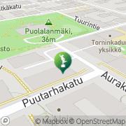 Kartta Turun taidemuseo Turku, Suomi