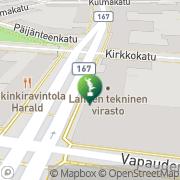 Kartta Lahden kaupunki taidemuseo Lahti, Suomi