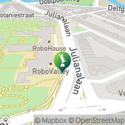 Kaart Botanische Tuin TU Delft Delft, Nederland