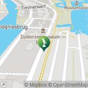 Kaart Zuiderzeemuseum Enkhuizen, Nederland