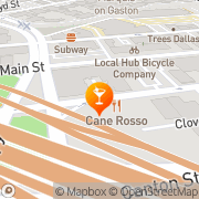 Map Twisted Root Burger Restaurant of Deep Ellum Dallas, United States