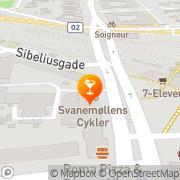 Kort Cafe Kildevælde København, Danmark