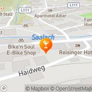Karte Lounge Hinterglemm, Österreich