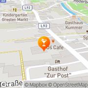 Karte Palatino Cafe-Pub-Bar Gresten, Österreich