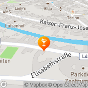 Karte Filou-Tanz-Cafe-Bar Baden, Österreich