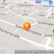 Karte Cafe-Bar Lukas Wien, Österreich