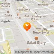 Map Shot Bar Ulubiona Warsaw, Poland