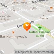 Kartta Ravintola Hemingway' s Turku, Suomi
