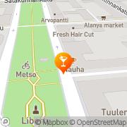 Kartta Oluthuone Esplanadi Tampere, Suomi