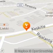 Kartta Ravintola Liekki Luopioinen, Suomi