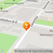 Kartta Ravintola Kesäheila Heinola, Suomi