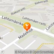 Kartta Ravintola Lehtohovi Kouvola, Suomi