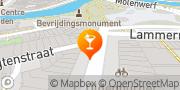 Kaart De Hut van Ome Henne Leiden, Nederland