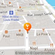 Carte de Café 203 Lyon, France
