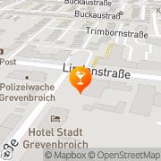 Karte Sanekmoss Keramik GmbH Grevenbroich, Deutschland