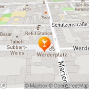 Karte Gloria Süd Karlsruhe, Deutschland
