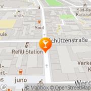 Karte Bar Milano Karlsruhe, Deutschland