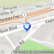 Map EAGLE ROCK EMERGENCY PET CLNC Los Angeles, United States