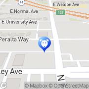 Map 24/7 PetVets Fresno, United States