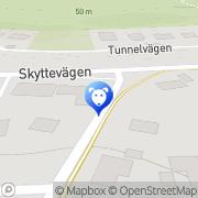 Karta Solsidans Djurklinik Saltsjöbaden, Sverige