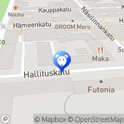 Kartta Lemmikkieläinliike Noksoppi Oy Tampere, Suomi