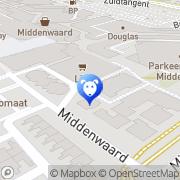 Kaart Dierenkliniek Middenwaard Heerhugowaard, Nederland