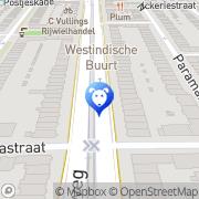 Map Hoofdweg Dierenkliniek Amsterdam, Netherlands