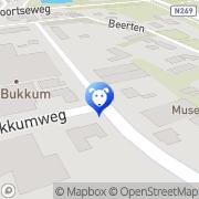 Kaart Bukkum Palace Kwaffeur Hilvarenbeek, Nederland