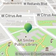 Map A K Smiley Public Library Redlands, United States