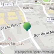 Carte de Direction Départementale de l'Agriculture et de La Forêt DDAF Foix, France