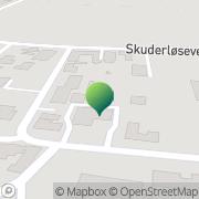 Kort Skuderløse Forsamlingshus Haslev, Danmark